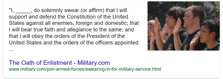 Oath of Military