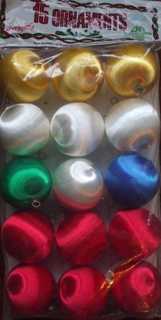 Vintage Satin Ball Ornaments