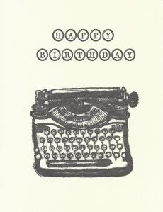 Happy Birthday Typewriter