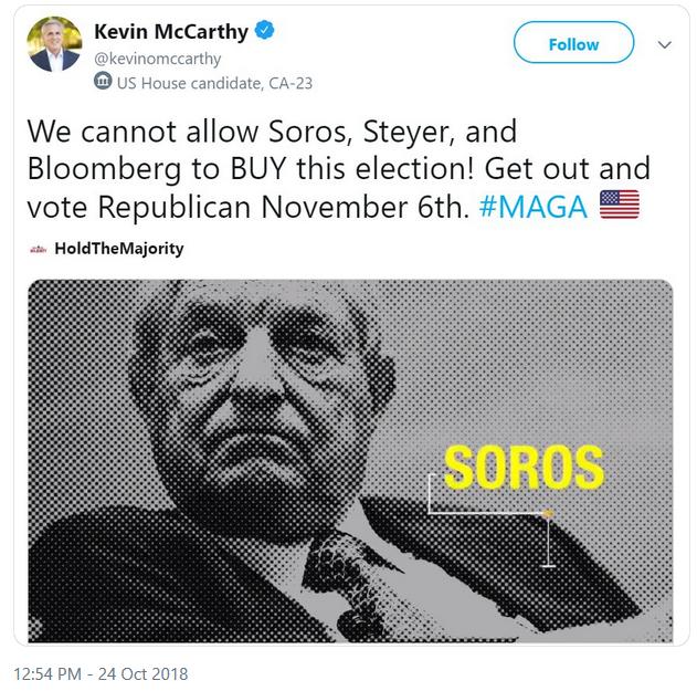 Kevin McCarthy Soros Tweet