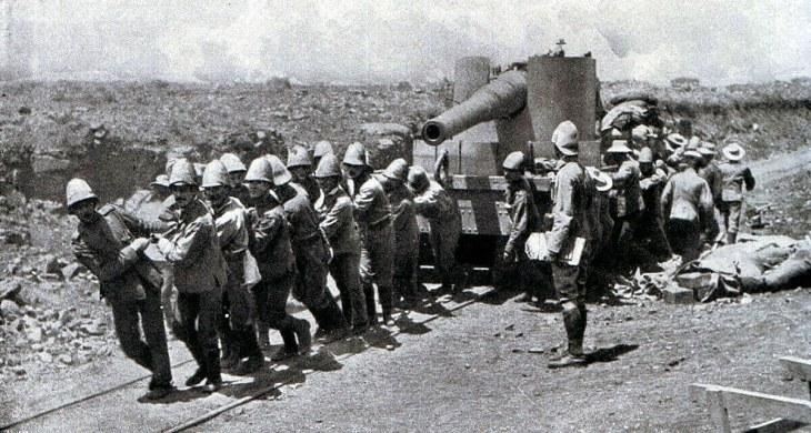Boer War Pulling Gun